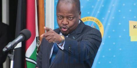 Health Cabinet Secretary Kagwe.
