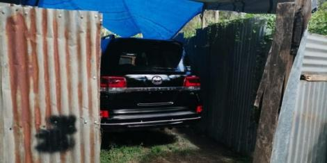 A stolen Toyota Land Cruiser V8 that was recovered by police officers in May 2019