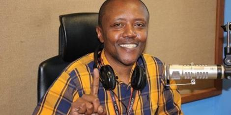Classic FM radio presenter Maina Kageni during a show at the station.