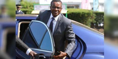 Chief Justice David Maraga getting out of his car