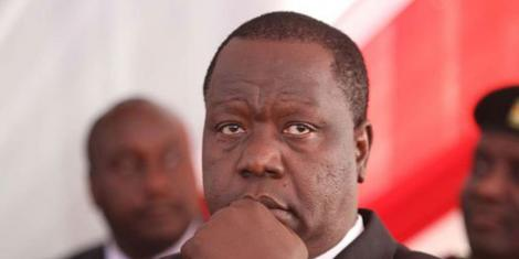 A file photo of Interior CS Fred Matiang'i