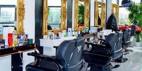 The barbershop section of Miss White Spa at Kilimani, Nairobi.