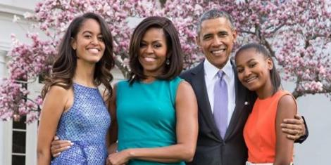 The Obama family on April 21, 2019.