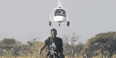 Actor Brian Ogola in the film Poacher