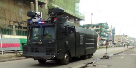A police tanker spotted in Eastleigh, Nairobi, on Thursday, May 7, 2020