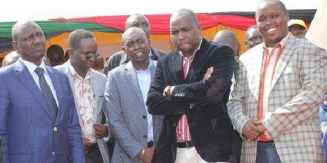 From left: DP William Ruto, Kapseret MP Oscar Sudi, Elgeyo Marakwet Senator Kipchumba Murkomen and Governor Alex Tolgos