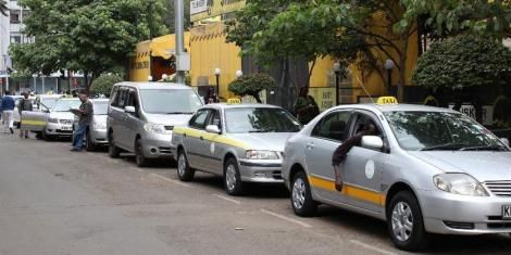 A file image of taxi drivers in Nairobi
