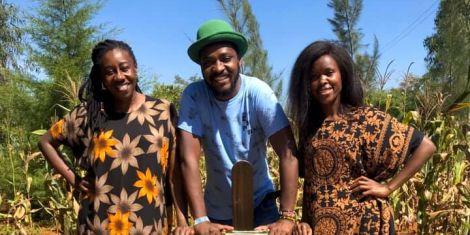 From left to right: Wilbroda, Njoro and Awinja (the cast of Papa Shirandula)