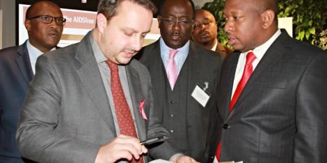Image result for images of sonko at Aids Free Global Forum in London