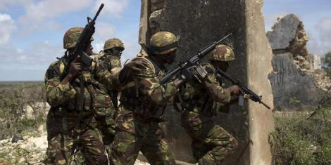 File photo: KDF soldiers in combat.