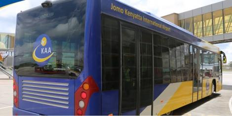 Image of Kenya airports authority bus