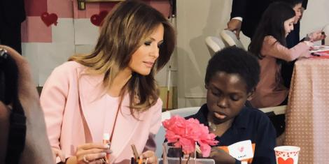 Image result for Melania Trump gifted necklace from Kenyan patient while delivering valentines