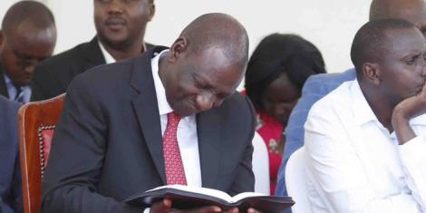 Image result for ruto with bible