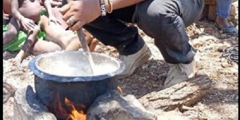 Image result for enock sikolia cooking for turkana family
