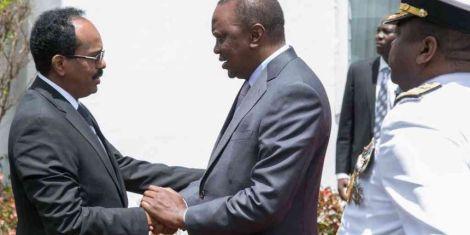 Somalia President Mohamed Abdullahi Makes a Surprise Visit to Kenya